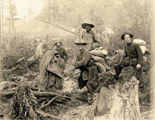 Yukon gold rush: four men looking to get rich, 1897