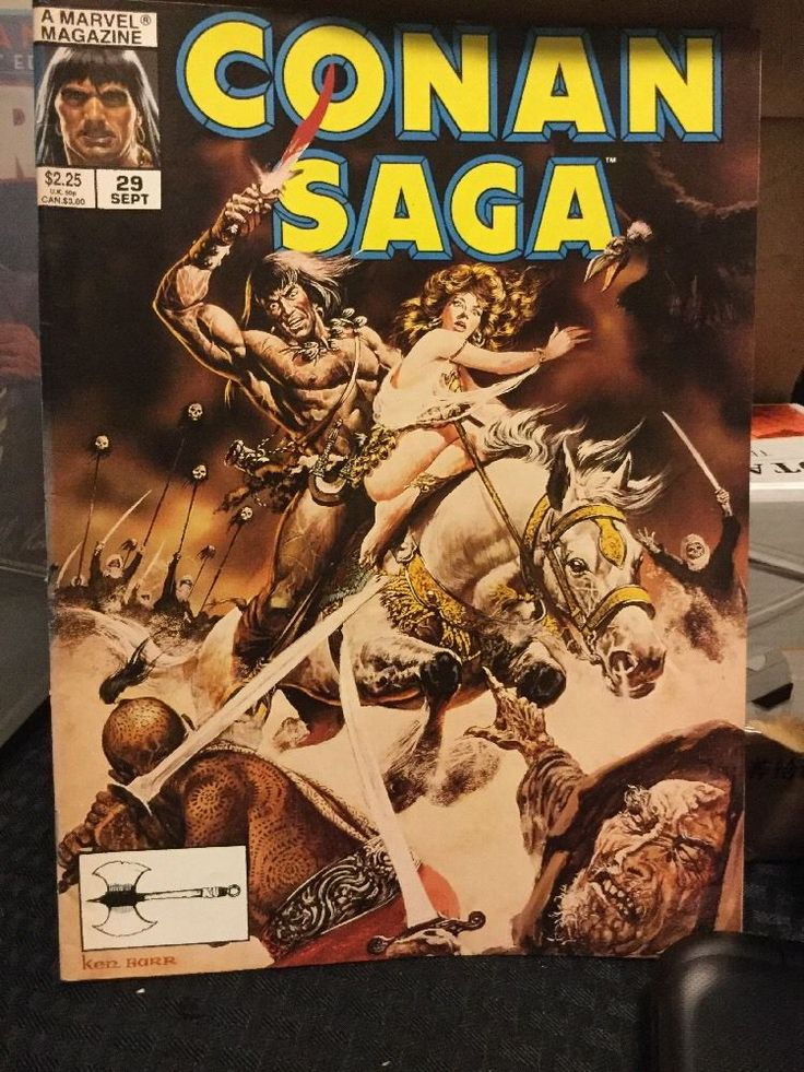 CONAN SAGA, Vol.1,#29 Marvel Magazine