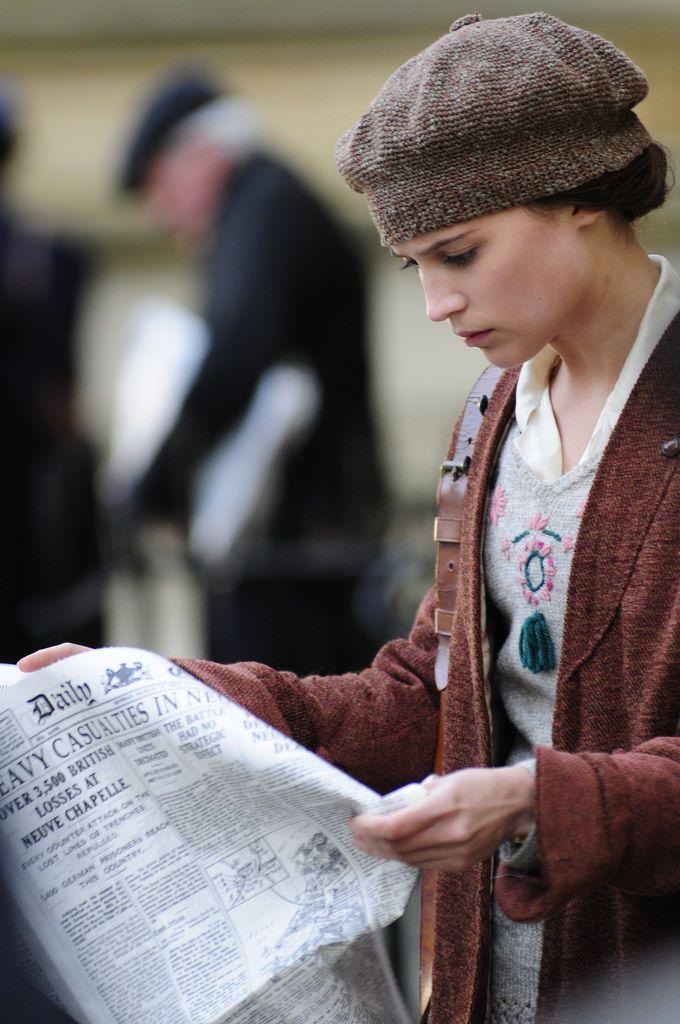 Vera Brittain - Alicia Vikander in Testament of Youth, set during World War I (2014).