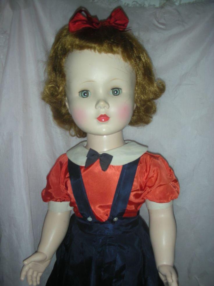 Vintage Hard Plastic Madame Alexander Mary Ellen Walker Playpal Doll 1950s