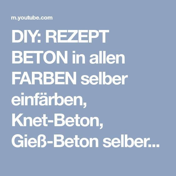 diy rezept beton in allen farben selber einf rben knet. Black Bedroom Furniture Sets. Home Design Ideas