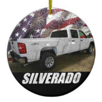 2013 Silverado 3500HD Crew Cab W/T Long Bed 4x4 Ceramic Ornament