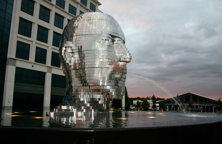 'Metalmorphosis' by Czech sculptor David Cerný  located in front of   the Whitehall corporate center in Charlotte, North Carolina