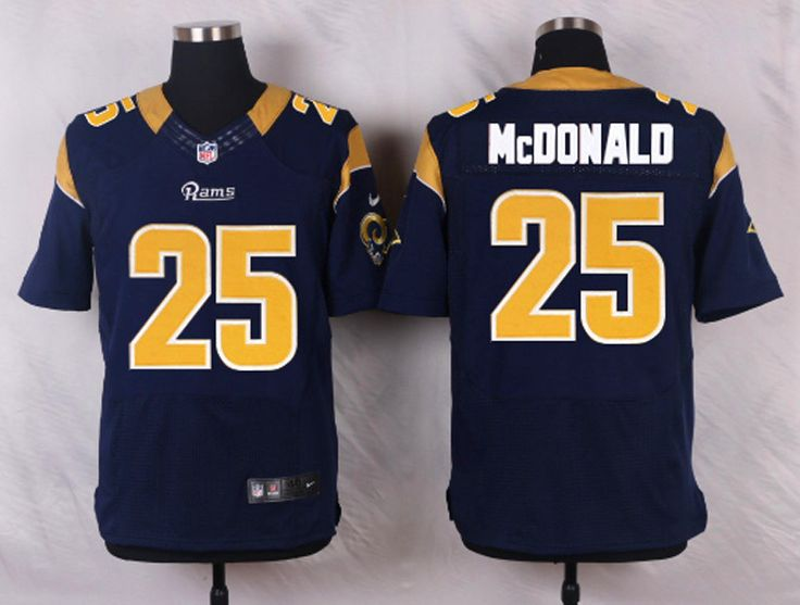 NFL Nike Lights Out Black Mens Aaron Donald 99 Los Angeles Rams Jersey NFL  st. louis rams 25 mcdonald blue Elite Jersey New ... 83ae9142b