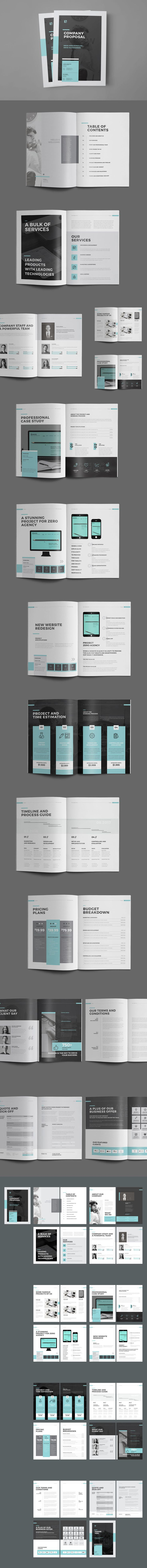 Minimal and Professional Proposal Brochure Template InDesign
