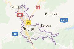 Harta pentru Reșița România