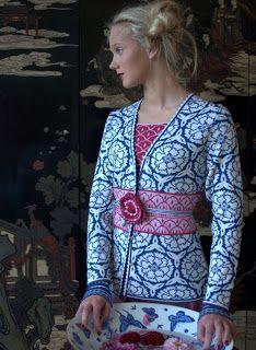 Hilado de la bobina: Jardín-Solveig Hisdal de una tejedora de Oleana #knitting