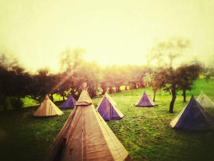 Groepsovernachten in een Tenipi Village. Kamperen // Nordic Tipi // winterkamperen // bijzondere overnachting // www.zweedsetenten.nl