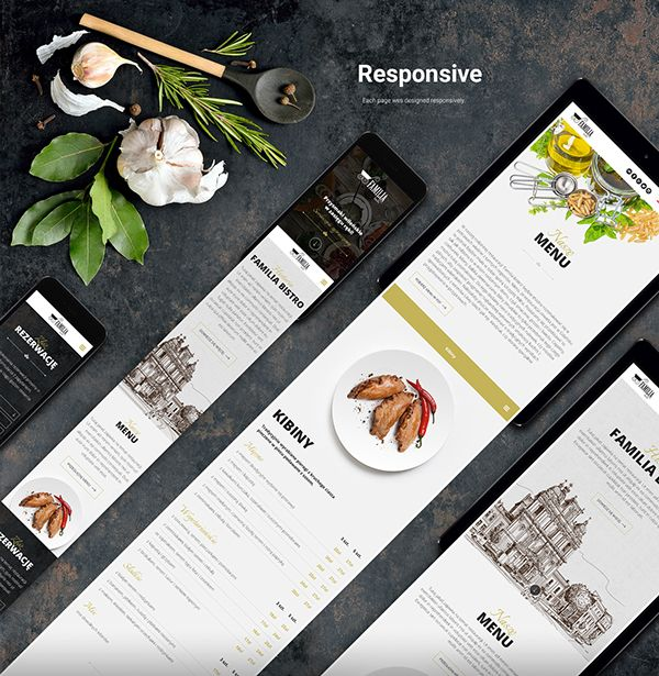 Restaurant, food, Web Design