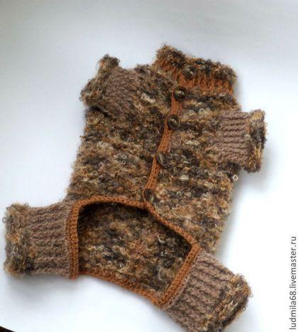 одежда для собак.свитер собаке,комбинезон для собак - коричневый,одежда для собак