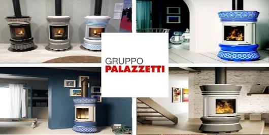 Pho#palazzetti Lady wood burning stove. So on trend with Geometric patterns at the moment! Will brighten up any roomto