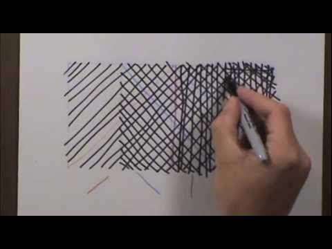 Crosshatching for Beginners - Skapa olika ljushetsnyanser genom att strecka
