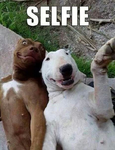 How I look like when I take a selfie with my bestie
