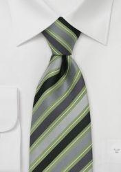 Clip-Krawatte grün/grau gestreift günstig kaufen