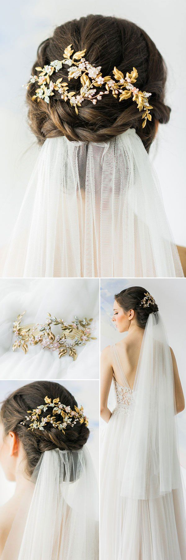 Top 20 wedding hairstyles with veils and accessories #accessoires # wedding hairstyles #with #veil #top