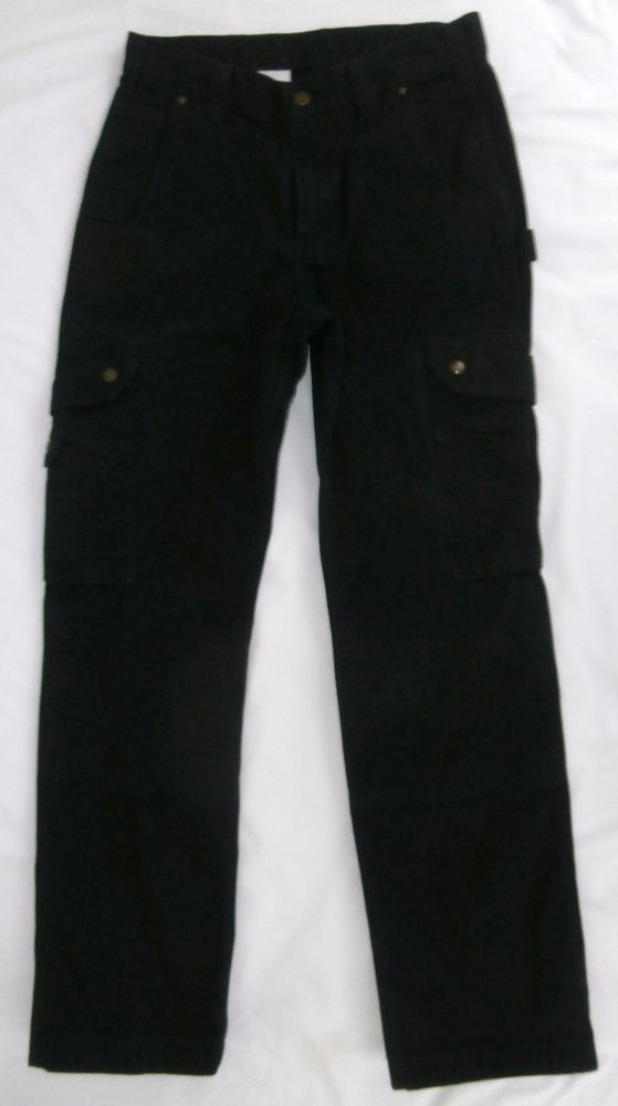 Carhartt Cargo Pants Style B342 Black Relaxed Fit Size 32 X 32 EUC #Carhartt #Relaxed