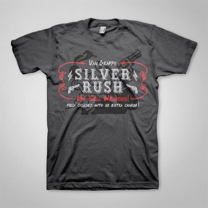 Fallout T-Shirt Design - Silver Rush  www.ellomate.co.uk www.ellomateshop.co.uk