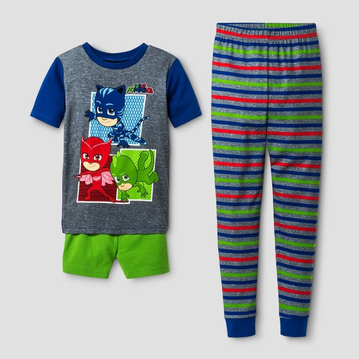 Boys' PJ Masks Pajama Sets - Grey 4, Boy's, Gray