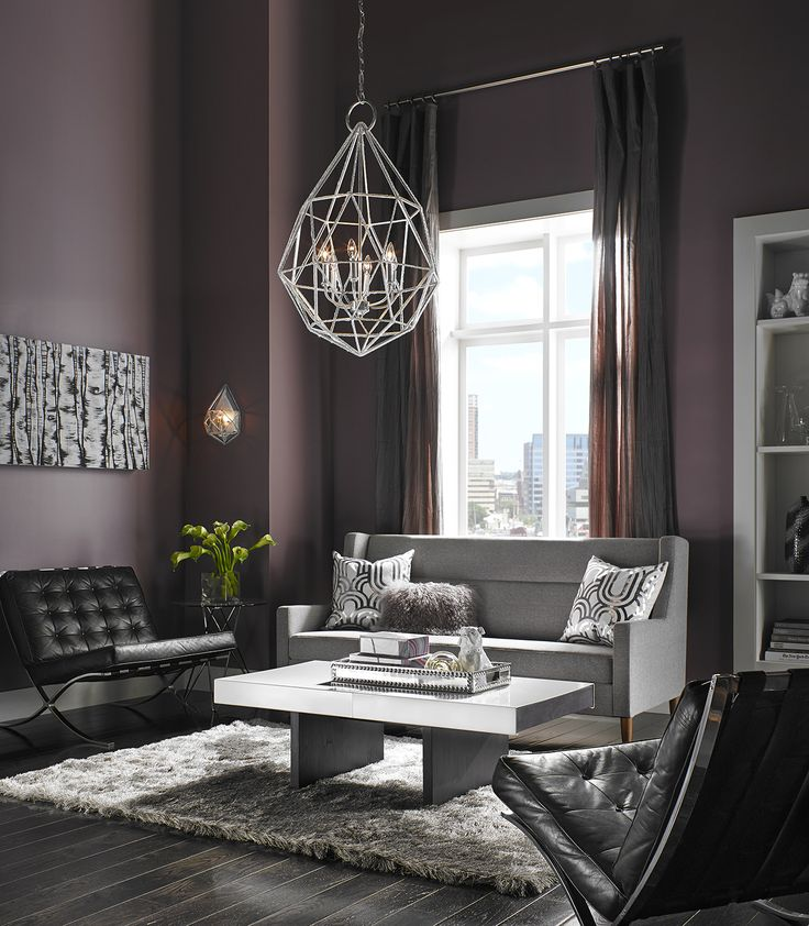 It Adds A Wonderful Sparkle To This Sexy Design. Find This Pin And More On Living  Room Lighting Ideas ...