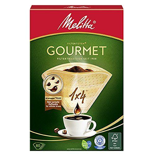 Melitta Gourmet Filtert�ten, AromaporenPlus, Naturbraun, 4er Pack (4 x 80 St�ck)