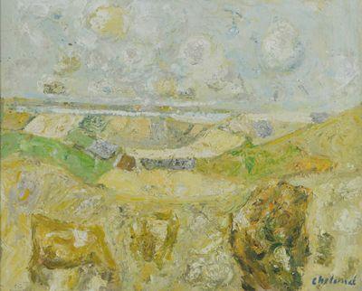 Gult landskab, u.å., Vendsyssel Kunstmuseum
