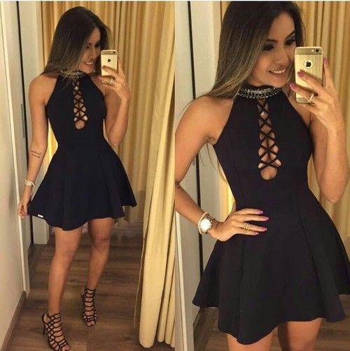 Imagen de black, style, and dress