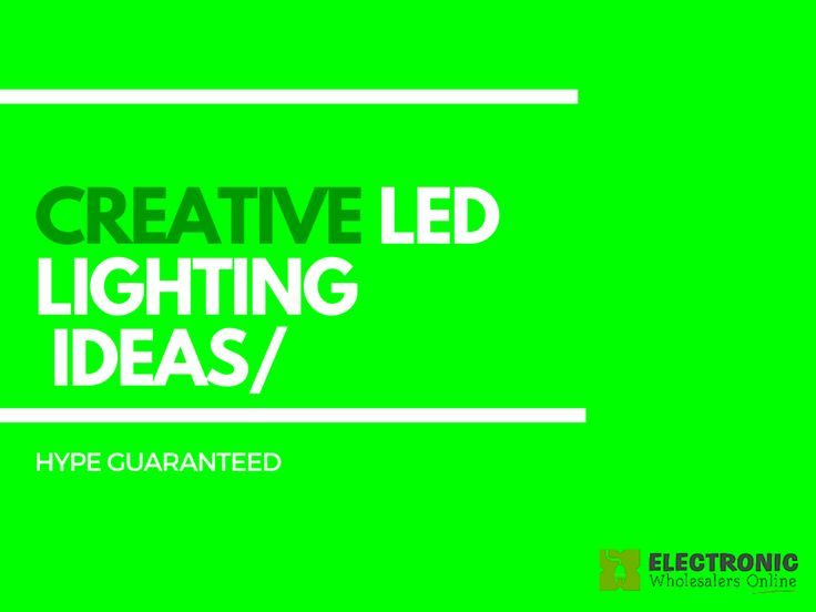 Creative #LED lighting ideas for your home. See more at   http://www.electronicwholesalersonline.com.au/blog