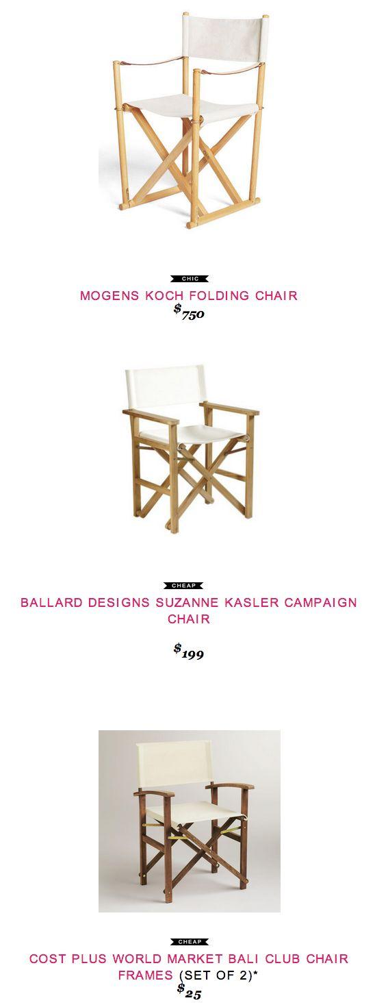 23 best classroom stool images on pinterest director s chair mogens koch folding chair 750 vs ballard designs suzanne kasler campaign chair 199 vs cost plus