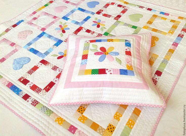 Купить Лоскутное детское одеяло Цветик- семицветик - лоскутное одеяло, детское…