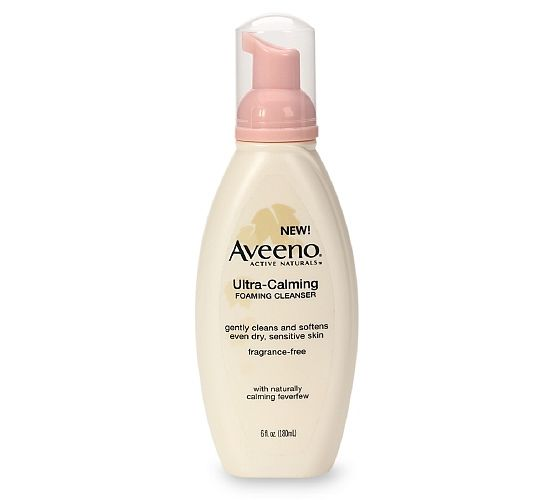 Aveeno Ultra-Calming Foaming Cleanser • Face Review & Swatches