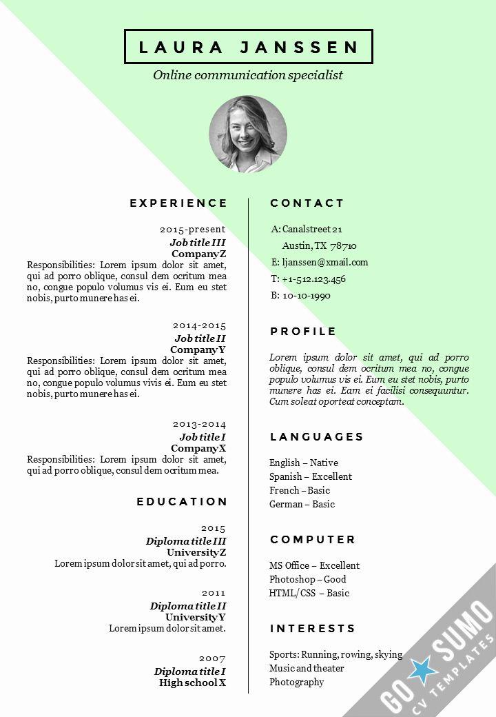 Curriculum Vitae Template Word Unique 6 Cv Pattern For Job