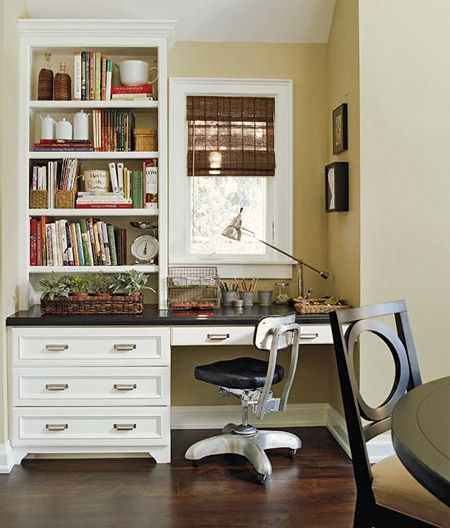 Space Saving Built In Office Furniture In Corners: This Built-in Home Office Cabinet Turned A Former Dining