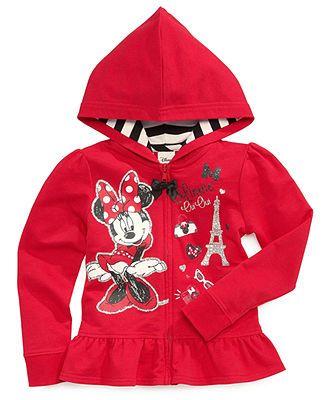 Disney Little Girls Minnie Mouse Hoodie Disney For Macy