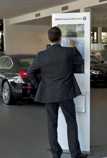 Multimedia designer #Excogitare, expert in #digitalsignage solutions, recently worked with BMW dealerships across Italy to replace their paper point-of-sale displays with interactive digital signage Totems by Friendlyway manufacturer...