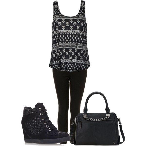 A fashion look from November 2014 featuring Topshop jeans, Carvela sneakers and Elliott Lucca handbags. Browse and shop related looks.