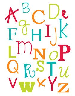 Alphabet and Number Poster