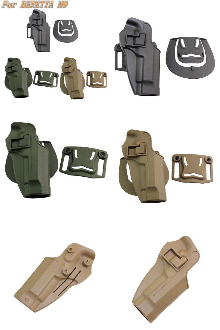 [Visit to Buy] Tactical Gun Case  Beretta M9 Holster Military Right Hand Waist Belt Paddle Holster for  Beretta M9 M92 #Advertisement