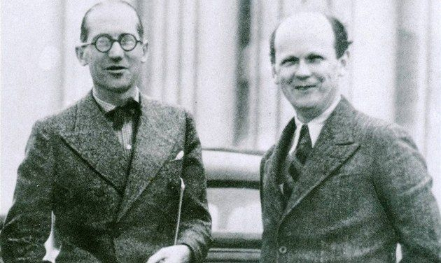 Bohuslav Fuchs (pictured right) in 1935, met with the French Le Corbusier.