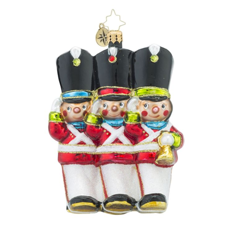 Christopher Radko Ornaments   Radko Merry Marchers Nutcrackers Guard Christmas Ornament