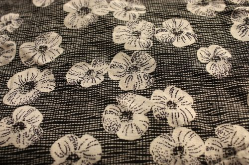 """Oh so lovely. Randomly sold out on a French site where it's simple called """"Liberty black and white flowers"""".  Gah I wish I could buy this for a dress!"""
