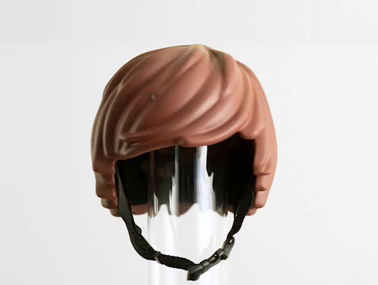LEGO-shaped safety gear literally gives you helmet hair www.designboom.com