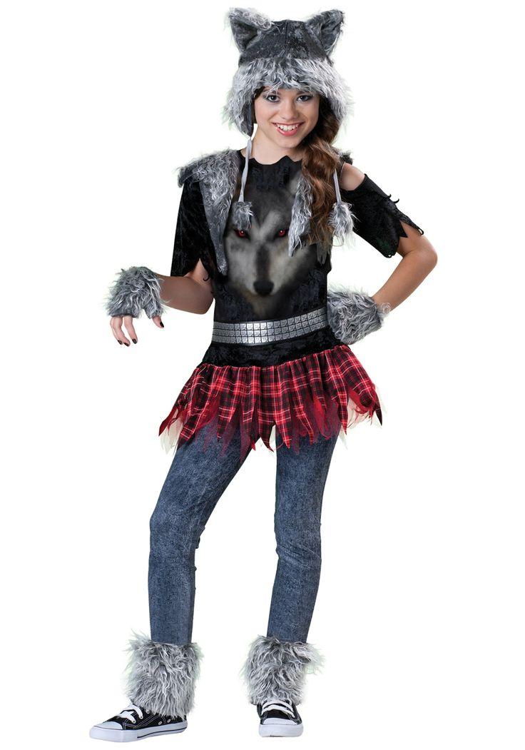 Tween Werewolf Costume - Tween Girls' Scary Halloween Costume Ideas