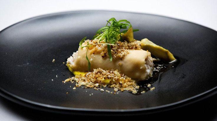 Lobster Cannelloni with Artichokes (Cannellonifyld laves ikke med makrel, men med mindre fed fisk, el rejer..)