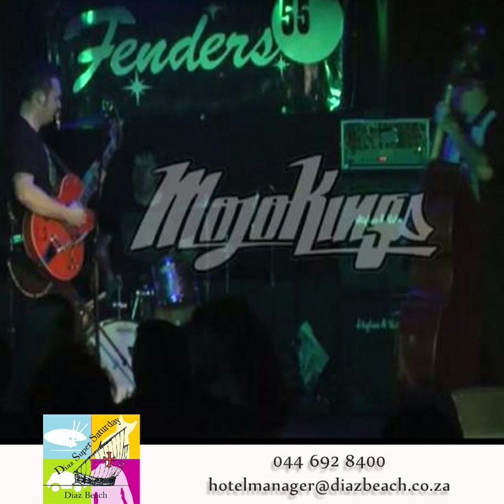 Mojo Kings are playing from 19:30 in die Pero Diaz theater, R50  for adults, R30 scholars , tickets are available at the door.  The Mojo Kings will bring you back to the good old days..  Features all the Great classics from R+B, Funk and Dance Music!!  The Mojo Kings boasts a diverse repertoire of styles from , Classic Hits, Funk and Soul all the way to the blues!  #Diaz #DiazSuperSaturday #MojoKings