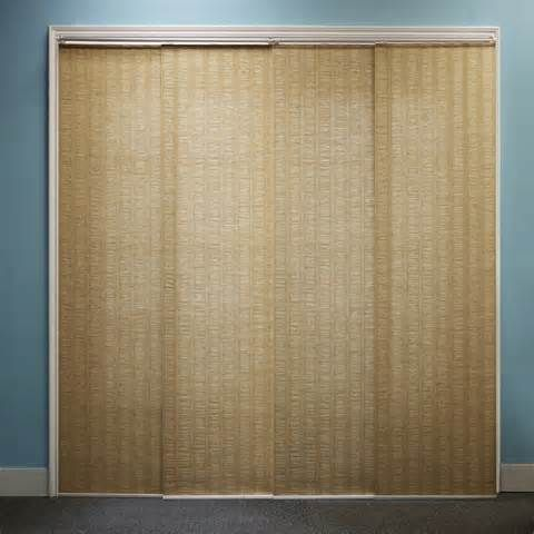 1000 ideas about sliding door curtains on pinterest for Sliding panel walls