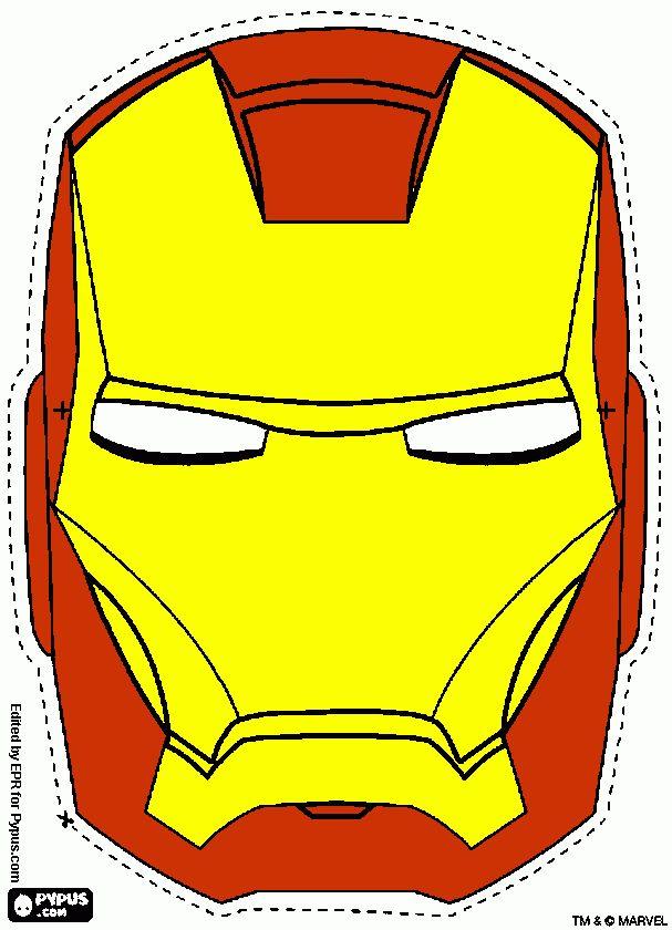mascara homem de ferro para colorir e imprimir