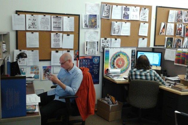 Editors, hard at work