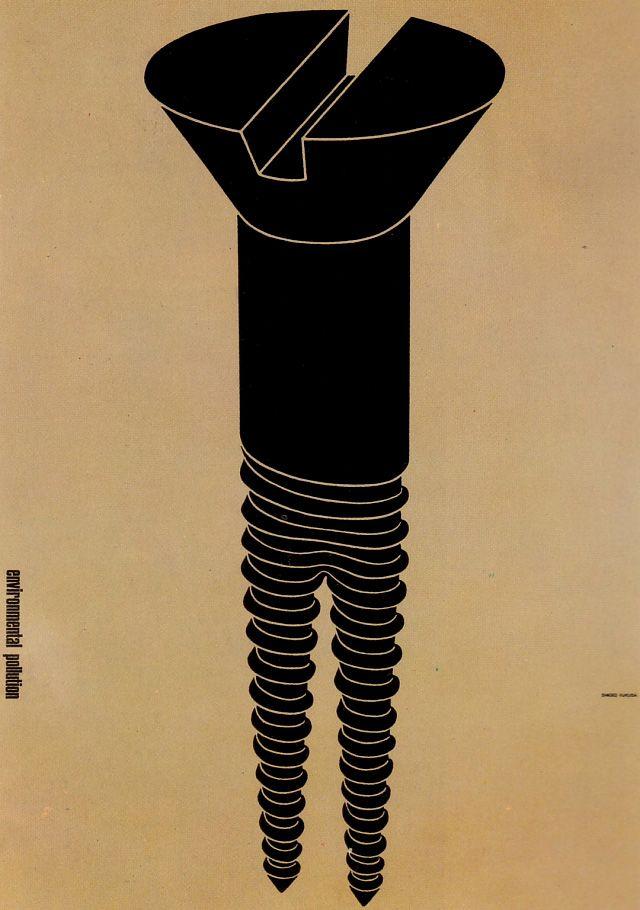 Shigeo Fukuda - Political poster from Japan