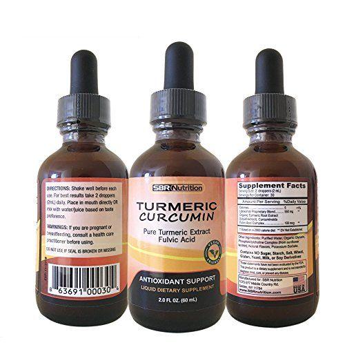MAX ABSORPTION Turmeric Liquid Drops, Antioxidant Support...