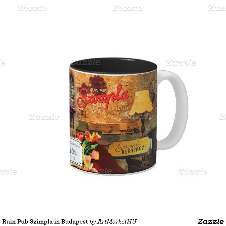 Ruin Pub Szimpla in Budapest Two-Tone Coffee Mug designed by Andras Balogh